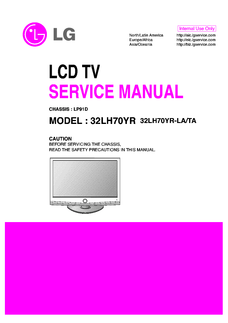 LG 32LH70YR CH LP91D service manual