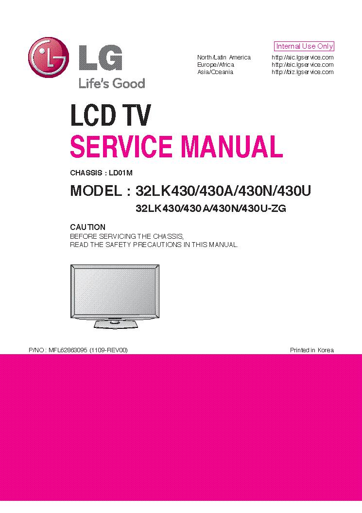 kiterjed ID SZMTSUNK EL TT. Csomag manual de servio tv led lg ...