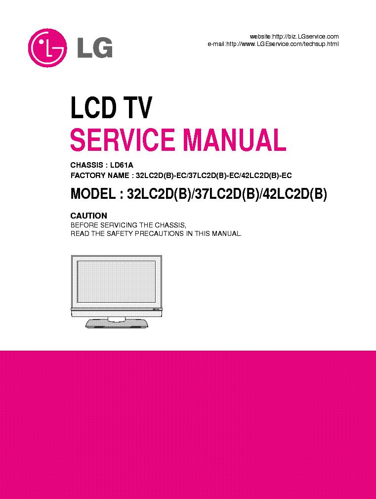 Lg 37lc2d tv Manual