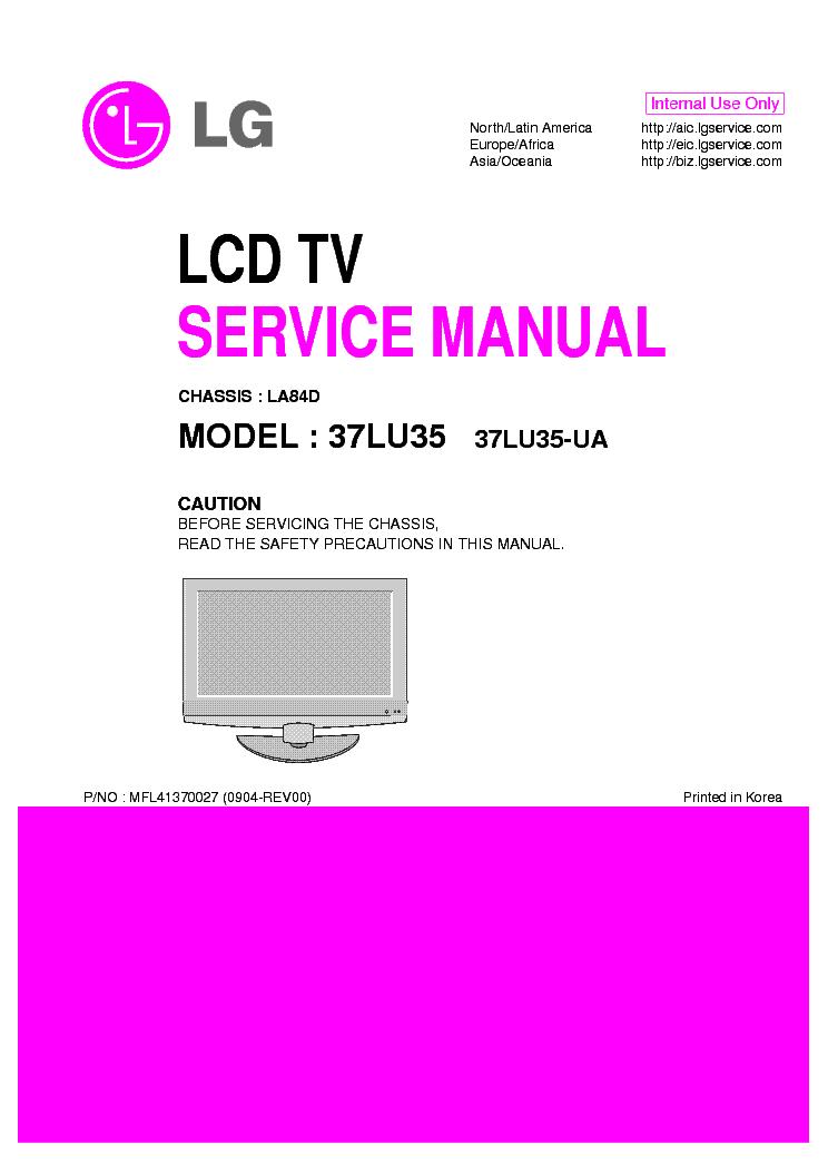 LG 37LU35-UA CHASSIS LA84D