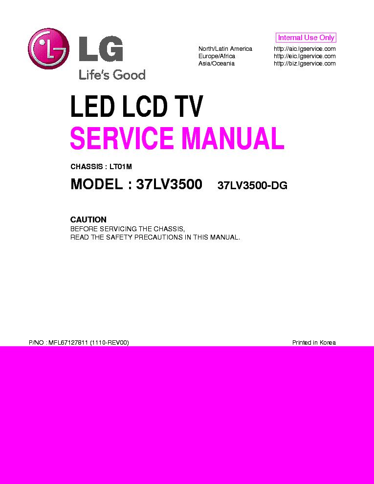 LG 37LV3500-DG CHASSIS