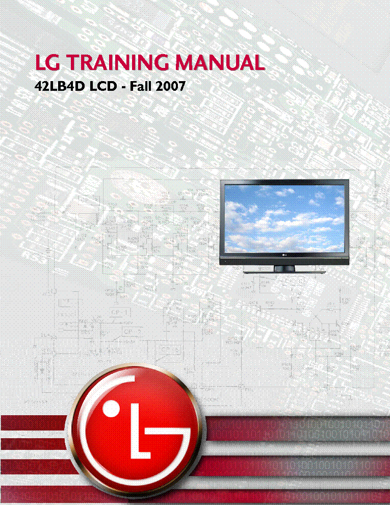 LG 42LB4D LCD TRAINING MANUAL service manual