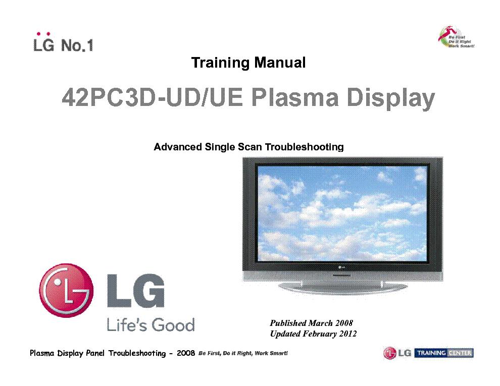 lg 42pc3d ud ue training man service manual download schematics rh elektrotanya com LG Plasma TV Repair Parts LG Plasma TV 42PC5D