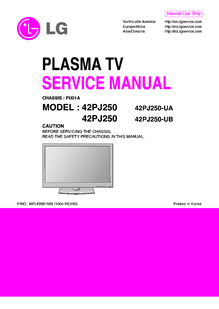 lg 42pj250 ua 42pj250 ub chassis pu01a service manual free. Black Bedroom Furniture Sets. Home Design Ideas