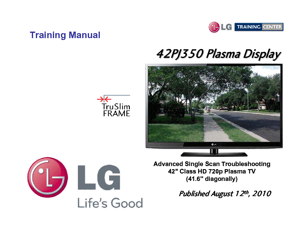 LG 42PJ350 TRAINING MANUAL service manual