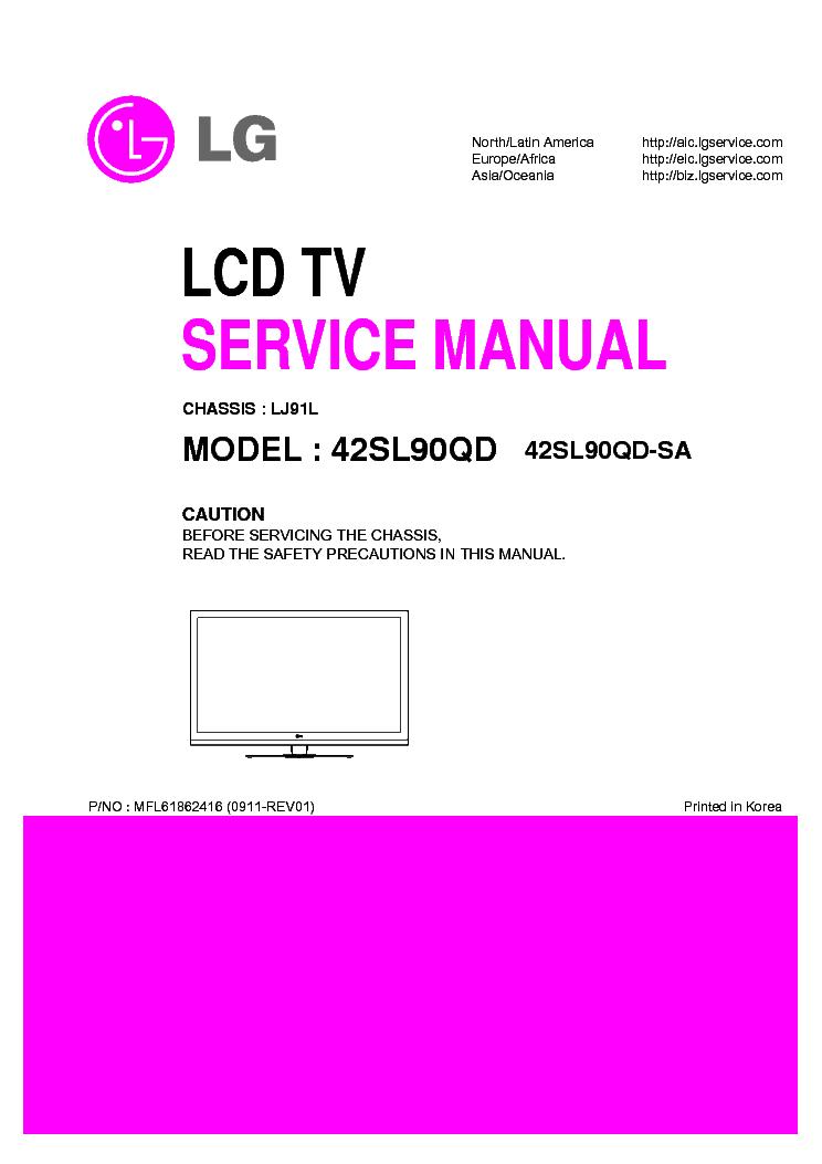 lg 42sl90qd aa led lcd tv service manual download