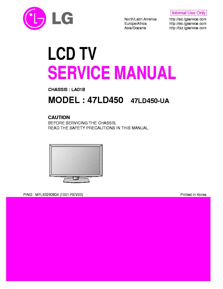 lg 47ld450 ua chassis la01b service manual download. Black Bedroom Furniture Sets. Home Design Ideas