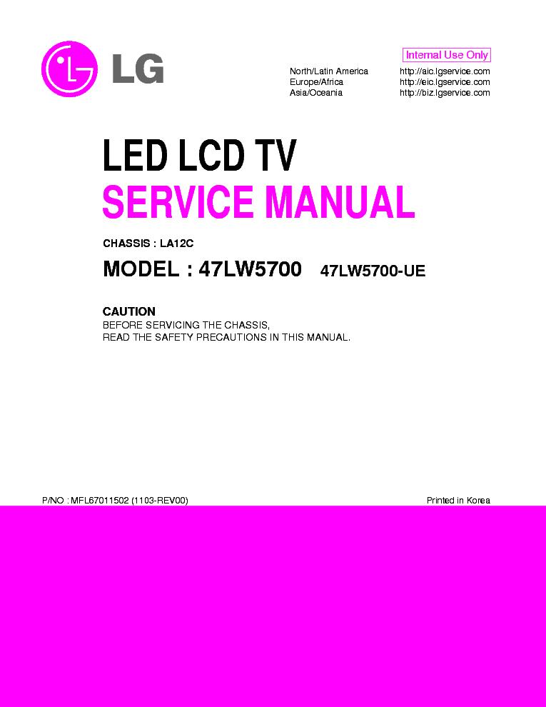 lg 47lw5700 ue chassis la12c mfl67011502 1103 rev00 service manual rh elektrotanya com JVC TV Manual Dynex TV Manual