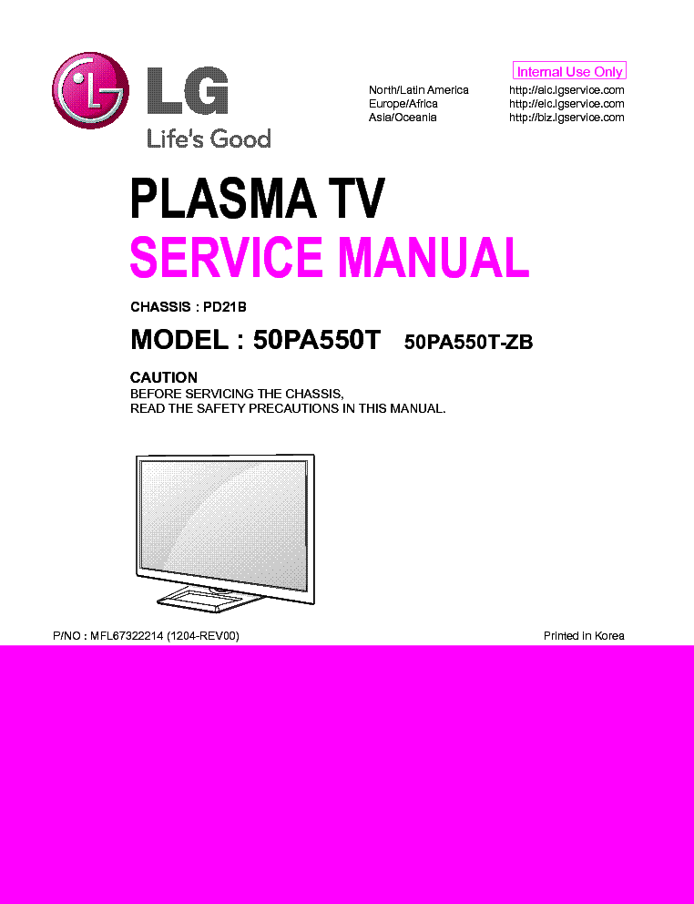 LG 50PA550T-ZB CHASSIS PD21B service manual (1st page)