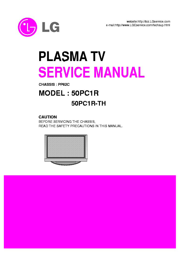 LG 50PC1RR service manual