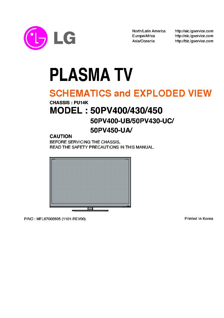lg 50pv 400 430 450 plasma tv service manual download schematics rh elektrotanya com lg 430 manual lg 430 manual
