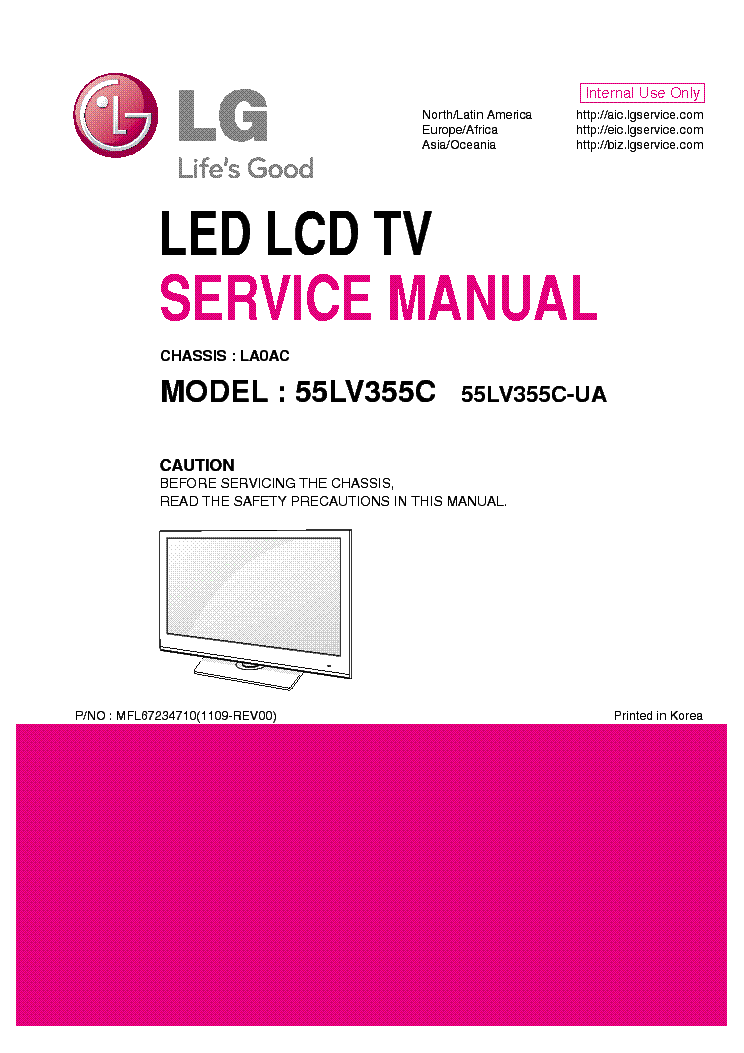 lg 55lv355c ua chassis la0ac service manual download. Black Bedroom Furniture Sets. Home Design Ideas