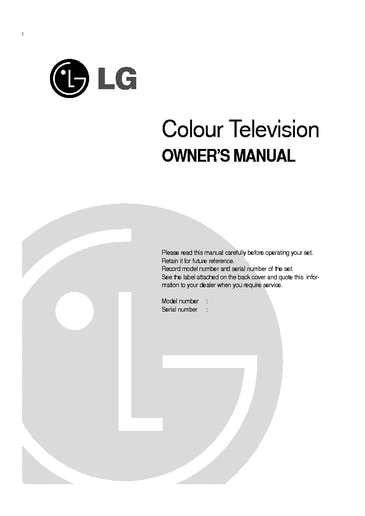 LG CE-25Q26ET OWNERS SM service manual