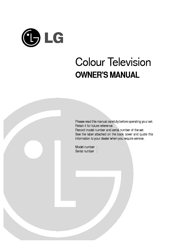 LG CE-29Q12IP OWNERS SM service manual
