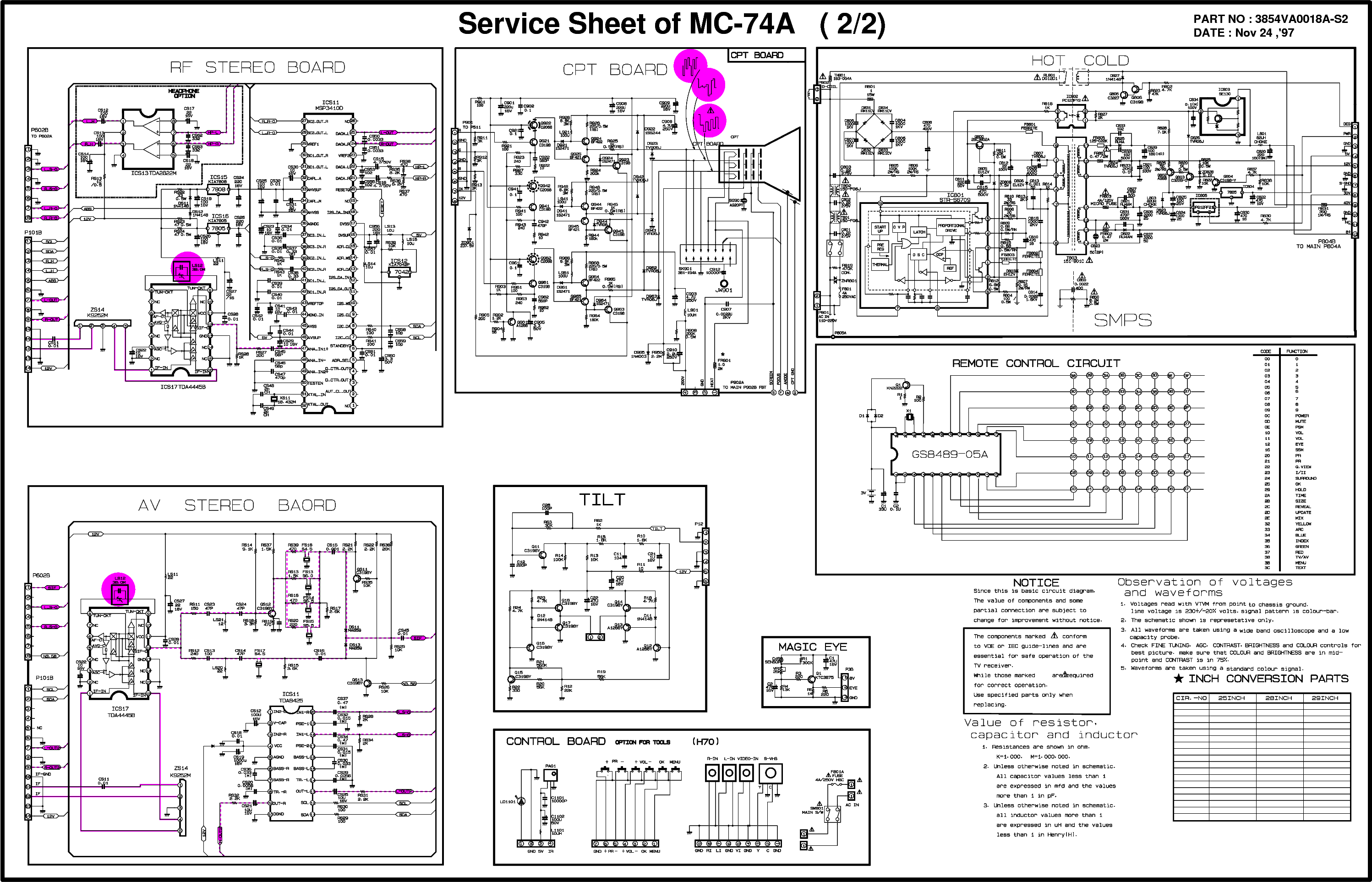 LG CF-29H30,MC74A service manual (2nd page)