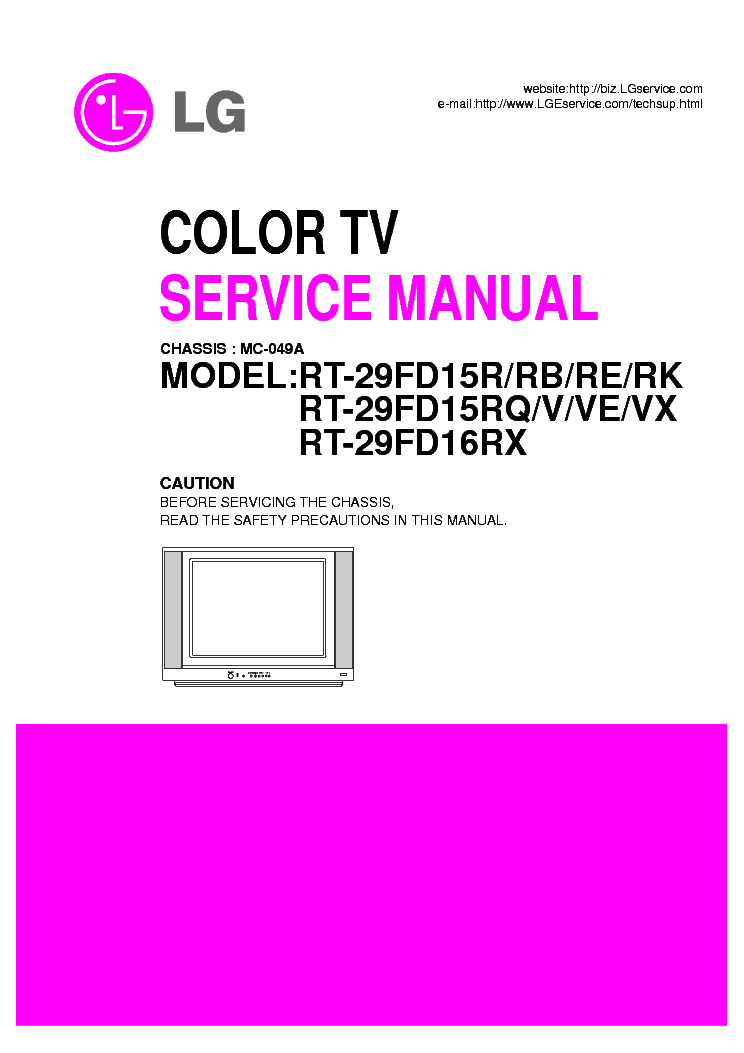 LG CHASSIS-MC-049A-RT-29FD15 service manual (1st page)