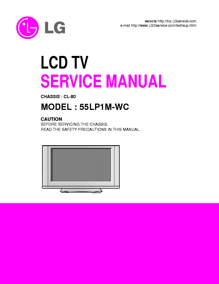 LG CL80 CHASSIS 55LP1MWC SM service manual