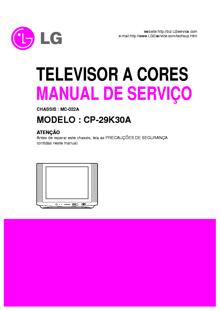 LG CP-29K30A CHASSIS MC-022A SM service manual