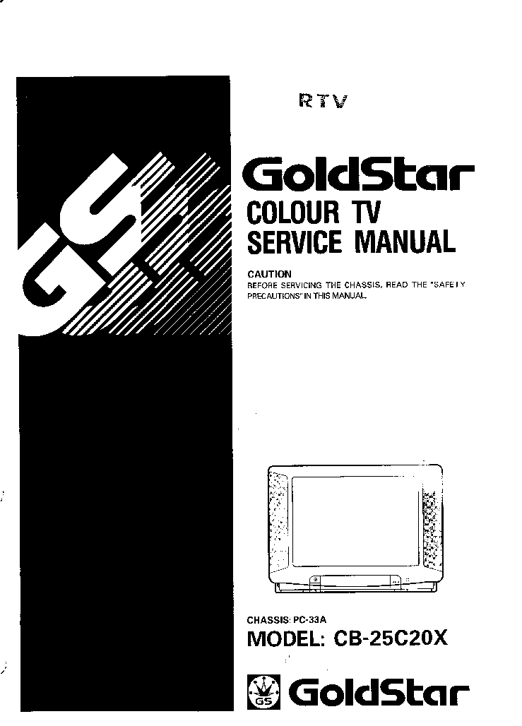 LG GOLDSTAR CB-25C20X CHASSIS PC-33A service manual