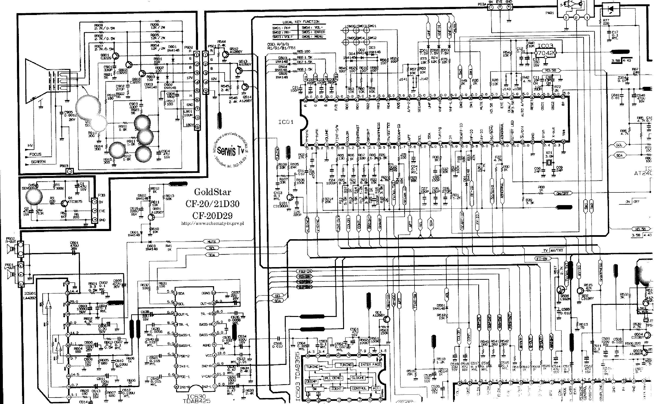 LG GOLDSTAR CHASSIS MC-64B CF-20D30 CF-20D29 service manual (1st