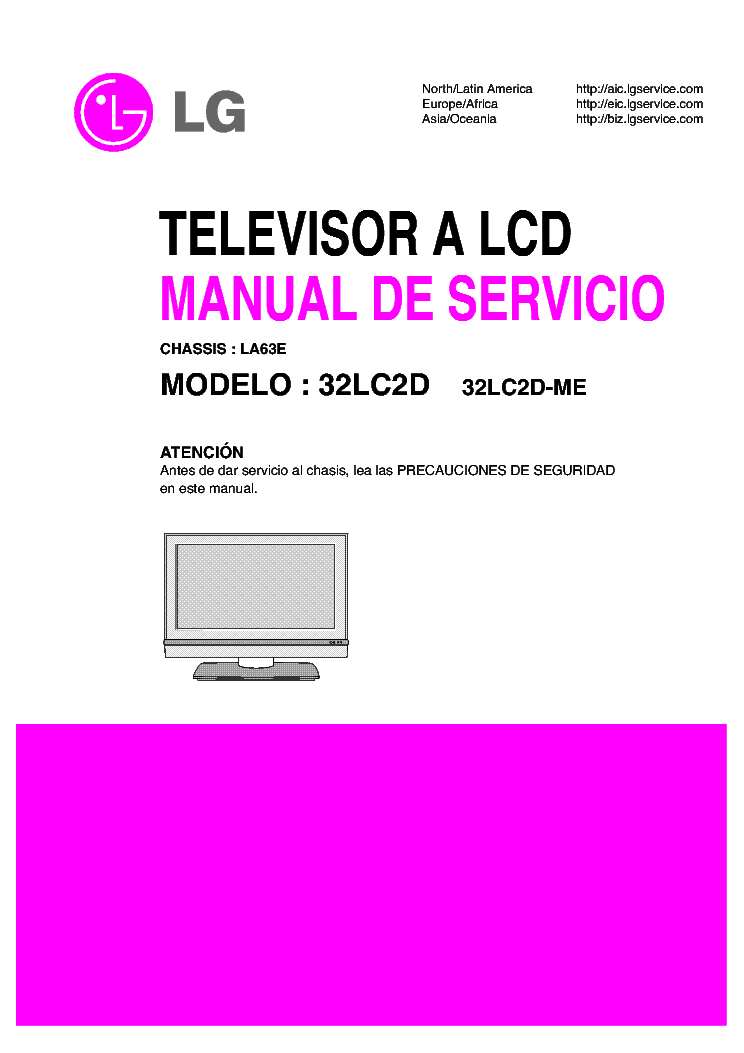 lg la63e chassis 32lc2d me lcd tv sm service manual download rh elektrotanya com Part for LG 32LC2D TV 37 HDTV LG 37LG30