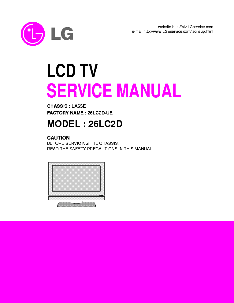 Free lcd Tv Service manuals