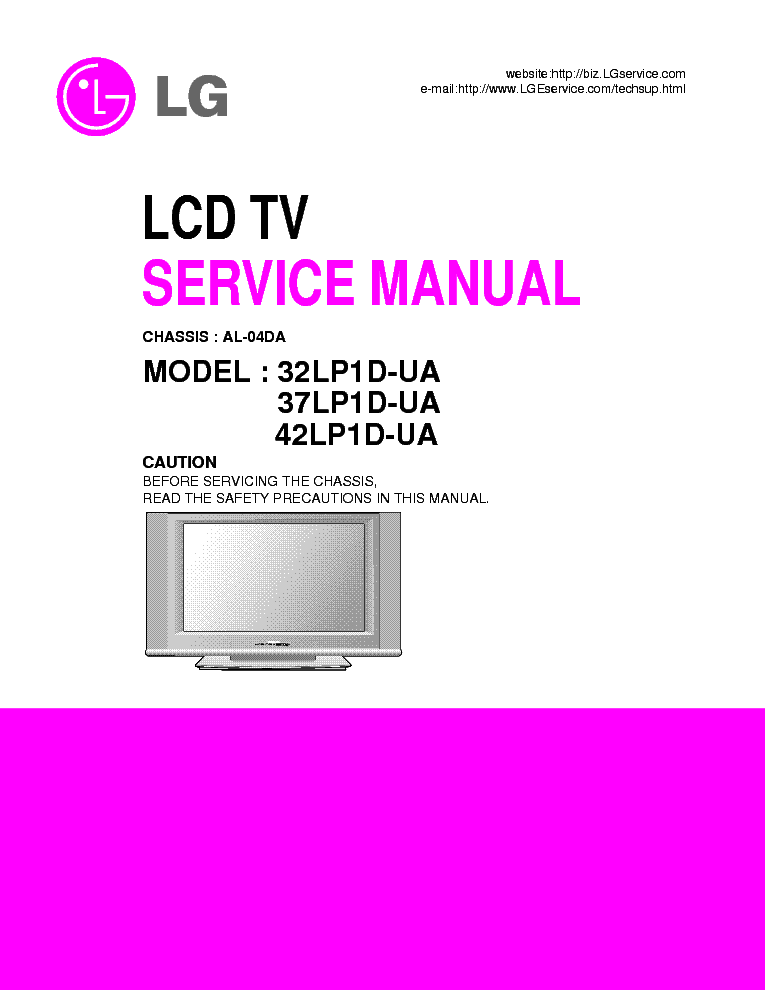 lg lcd tv 32lp1d 37lp1d 42lp1d service manual download schematics rh elektrotanya com lg lcd tv service manual free download lg led lcd tv owner's manual