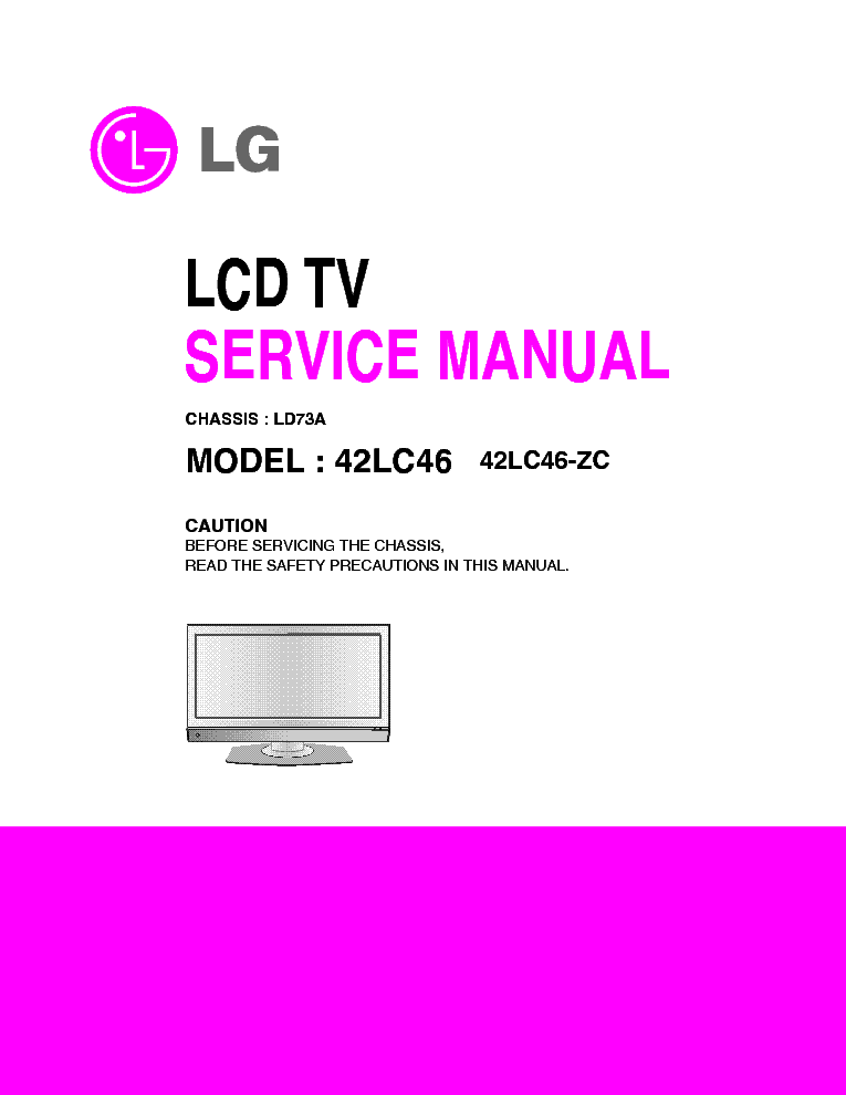 lg ld73a chassis 42lc46 lcd tv sm service manual download