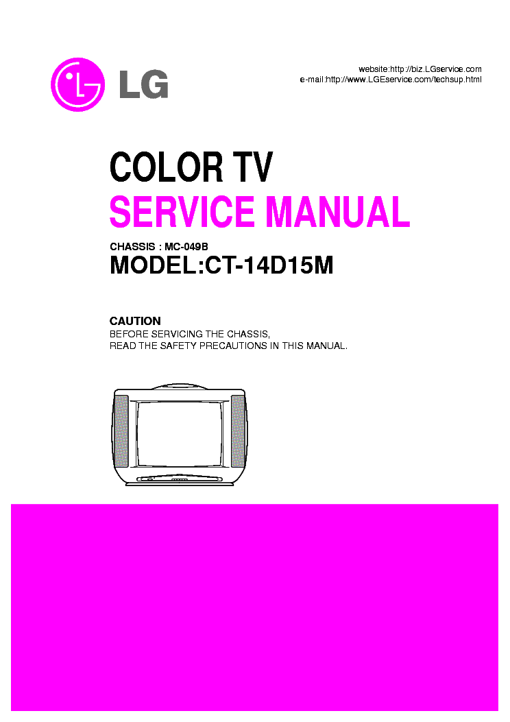 LG MC049B CHASSIS CT14D15M service manual