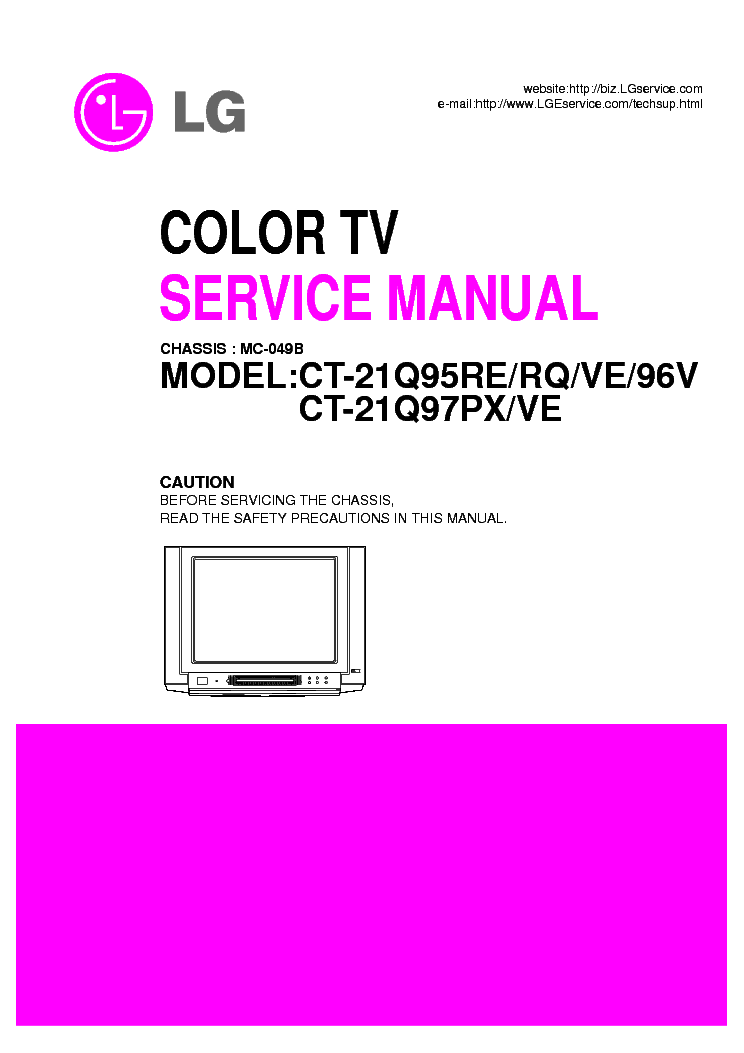 LG MC049B CHASSIS CT21Q95RE service manual