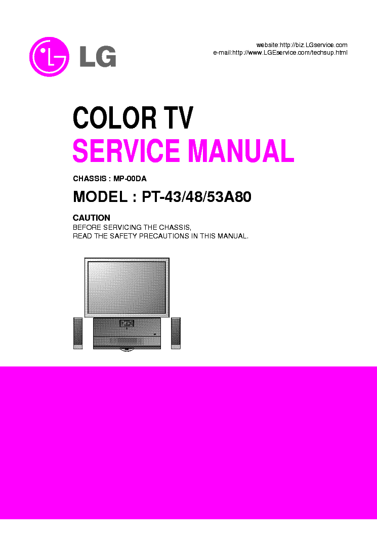 lg mp00da chassis pt43a80 projection service manual. Black Bedroom Furniture Sets. Home Design Ideas