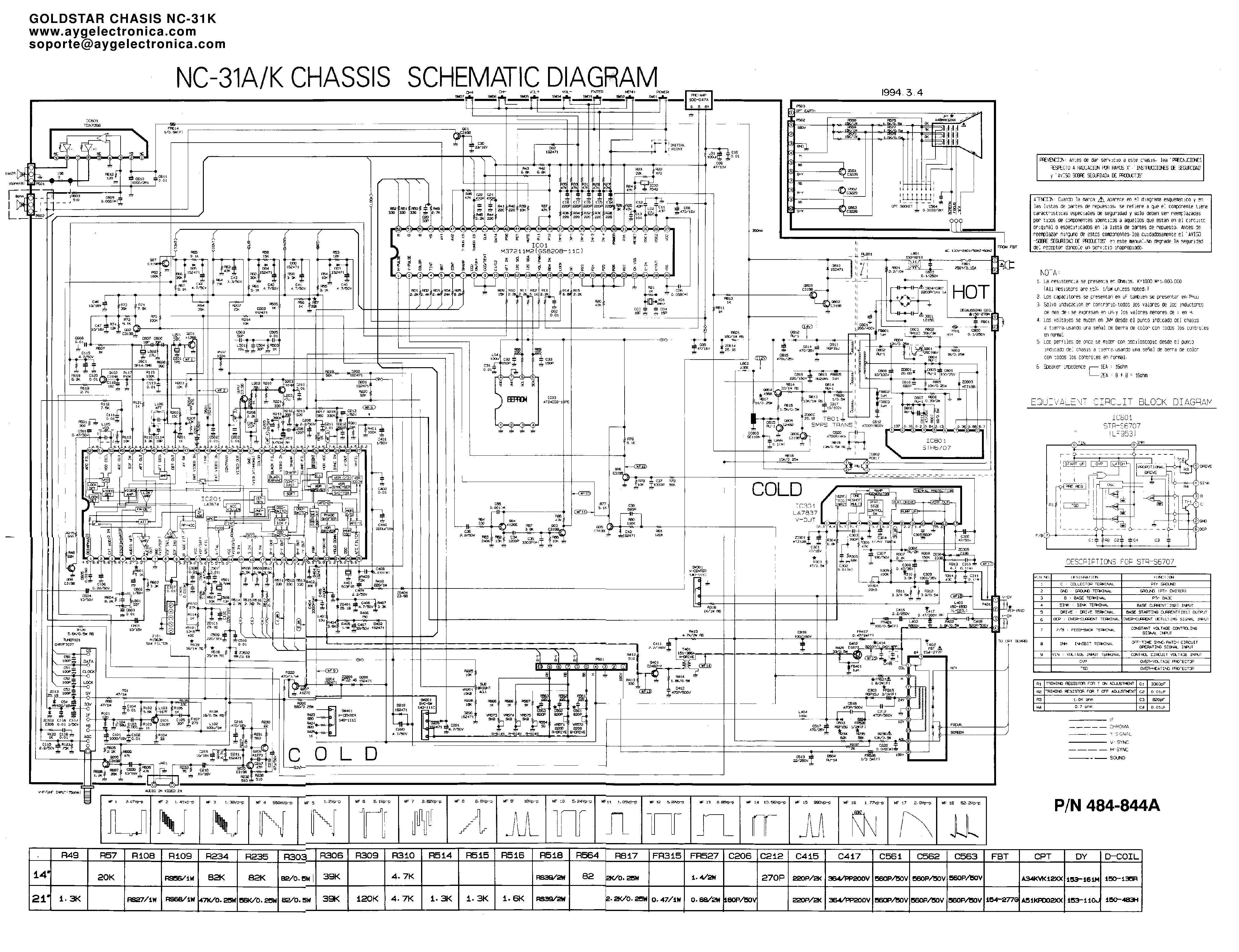 LG NC-31K CHASSIS service manual