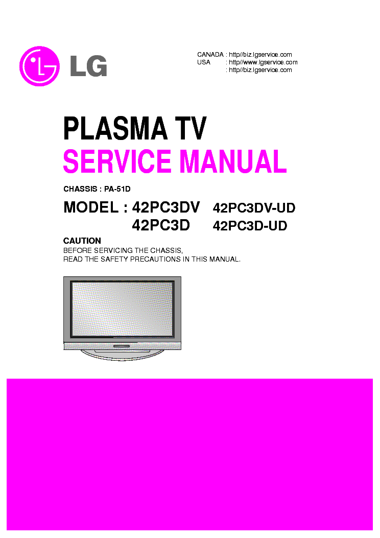 lg pa51d chassis 42pc3dv sm service manual download schematics rh elektrotanya com Manual Book Manual Book