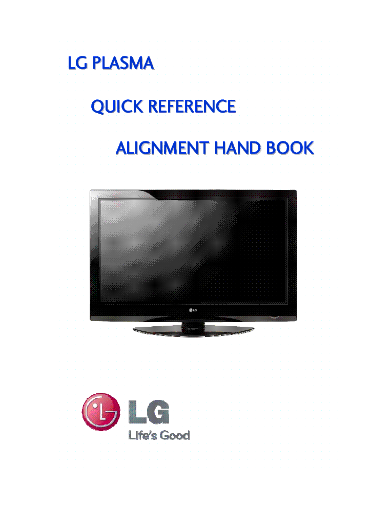 LG QUICK-REFERENCE-ALIGNMENT-HAND-BOOK service manual