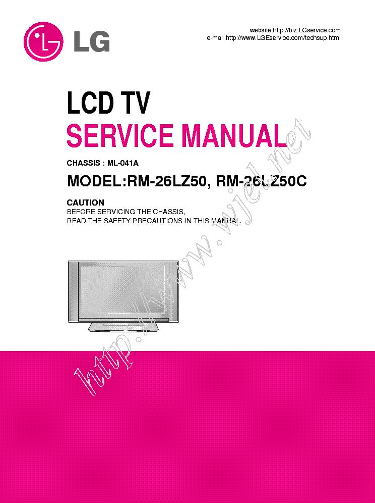 lg rm 26lz50 rm 26lz50c service manual service manual download rh elektrotanya com LG Instruction Manual LG Instruction Manual
