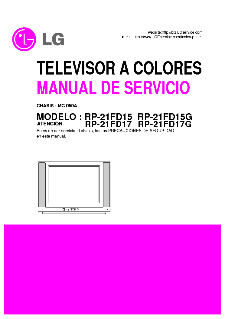LG RP-21FD15 CHASSIS MC-59A SM service manual