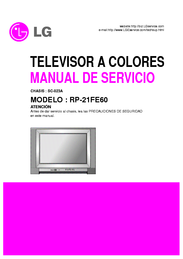 lg rp 21fe60 chassis sc 023a sm service manual free