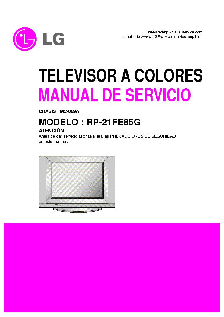 lg rp 21fe85g mc 059a service manual service manual download rh elektrotanya com service manual lg las550h service manual lg las550h