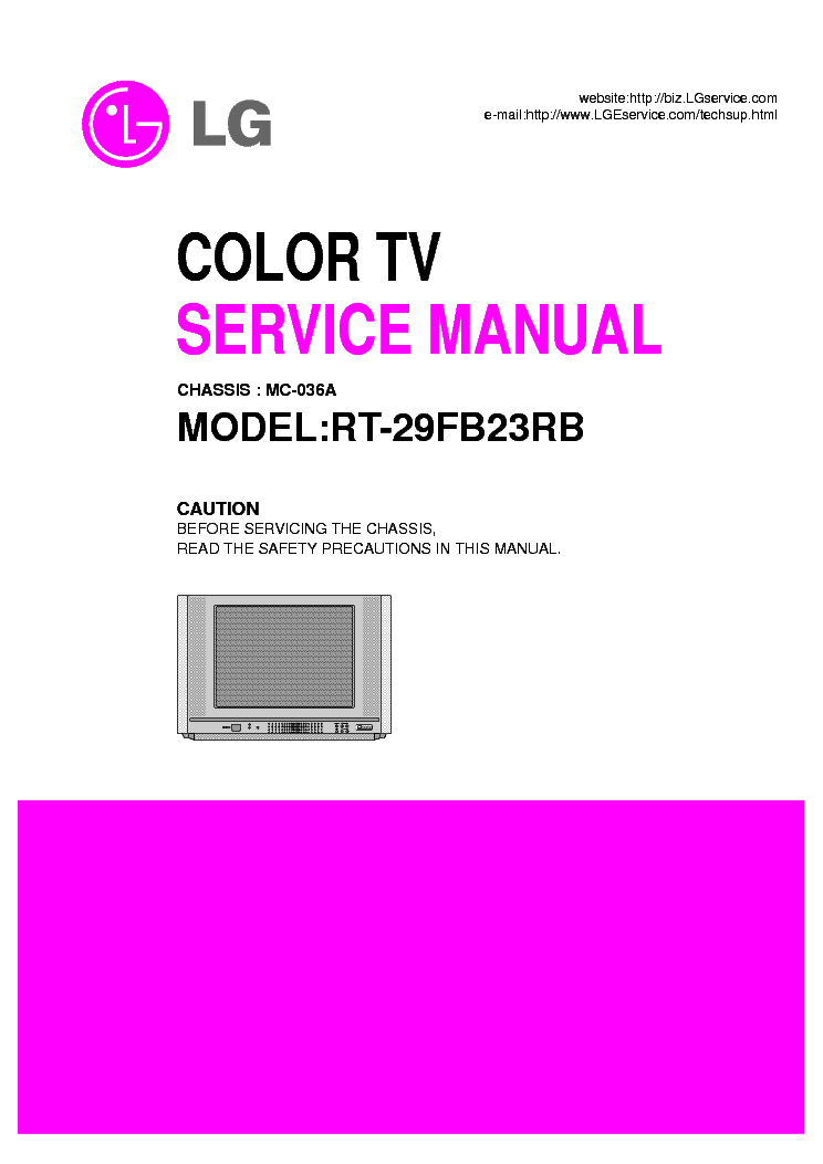 LG RT-29FB23RB CHASSIS MC-036A SM service manual