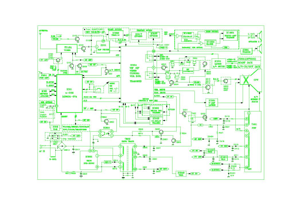 LG TV CF-20E60 CHASSIS M64