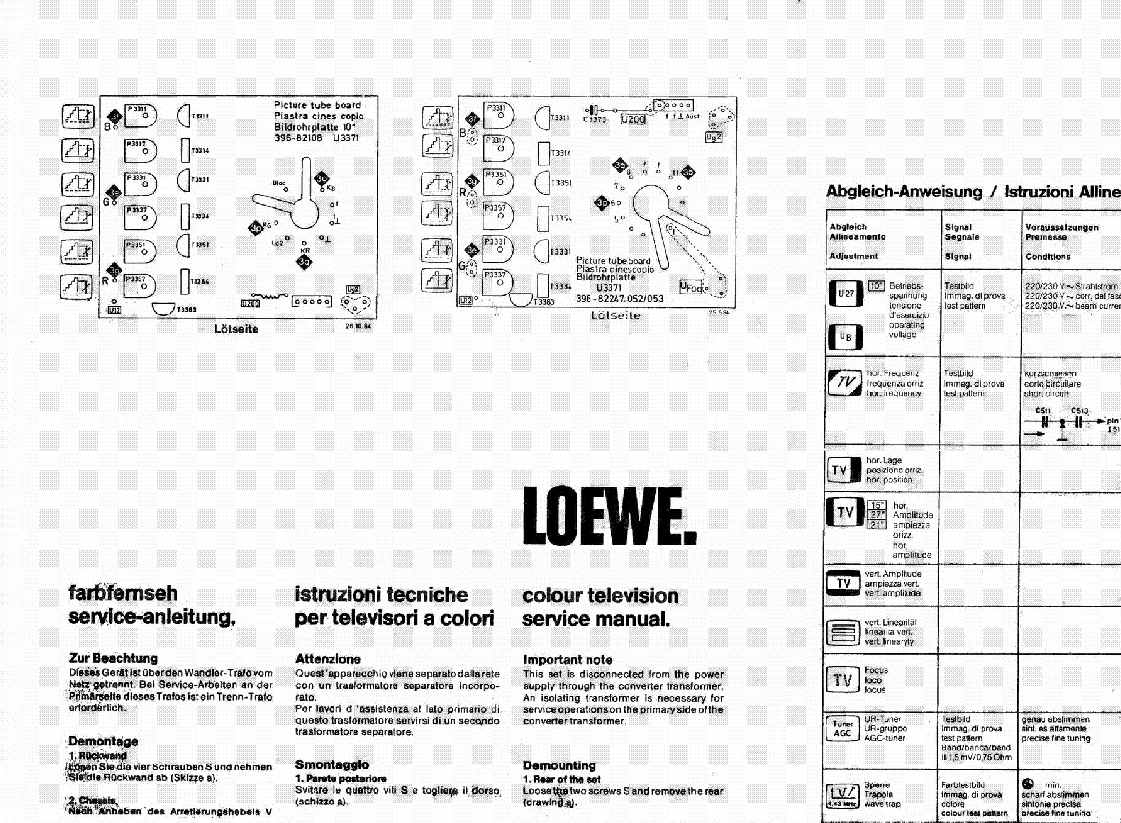 LOEWE C8500-MONO-CHASSIS SM service manual (1st page)