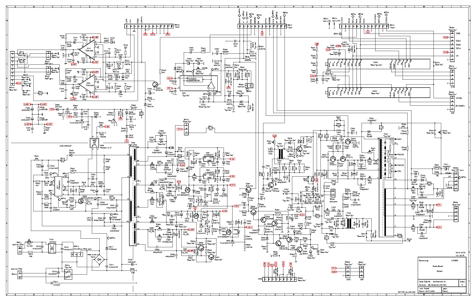 LOEWE CHASSIS Q2500 SCH service manual (1st page)