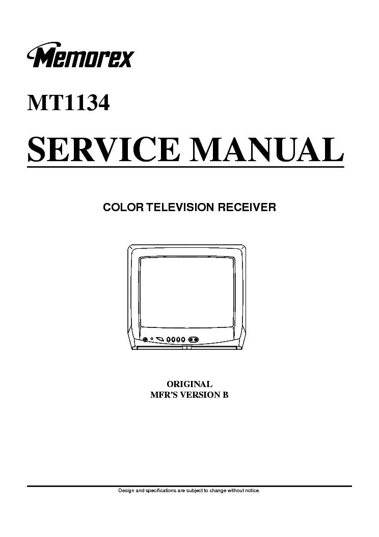 memorex mt1134 oec7091b tv sm service manual download