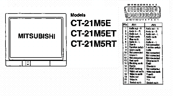 телевизор Mitsubishi Ct-14ms1eem инструкция - фото 5