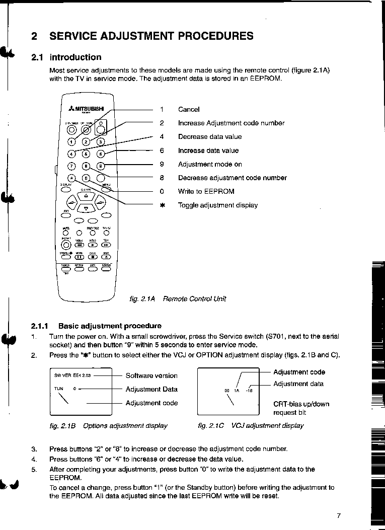 MITSUBISHI CT-25AV1 CHASSIS EE3W service manual (1st page)