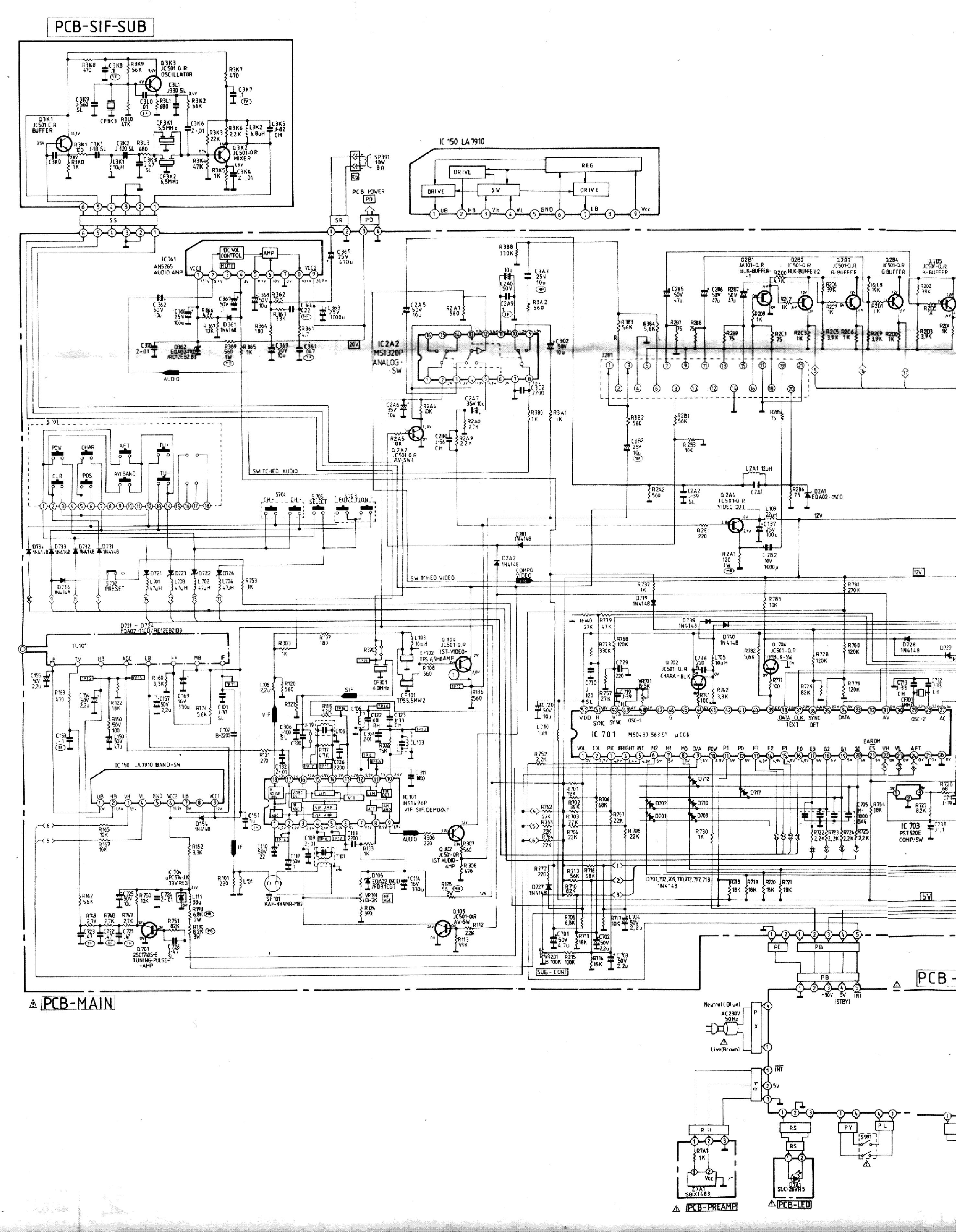 Телевизор mitsubishi ct 21m2eet схема