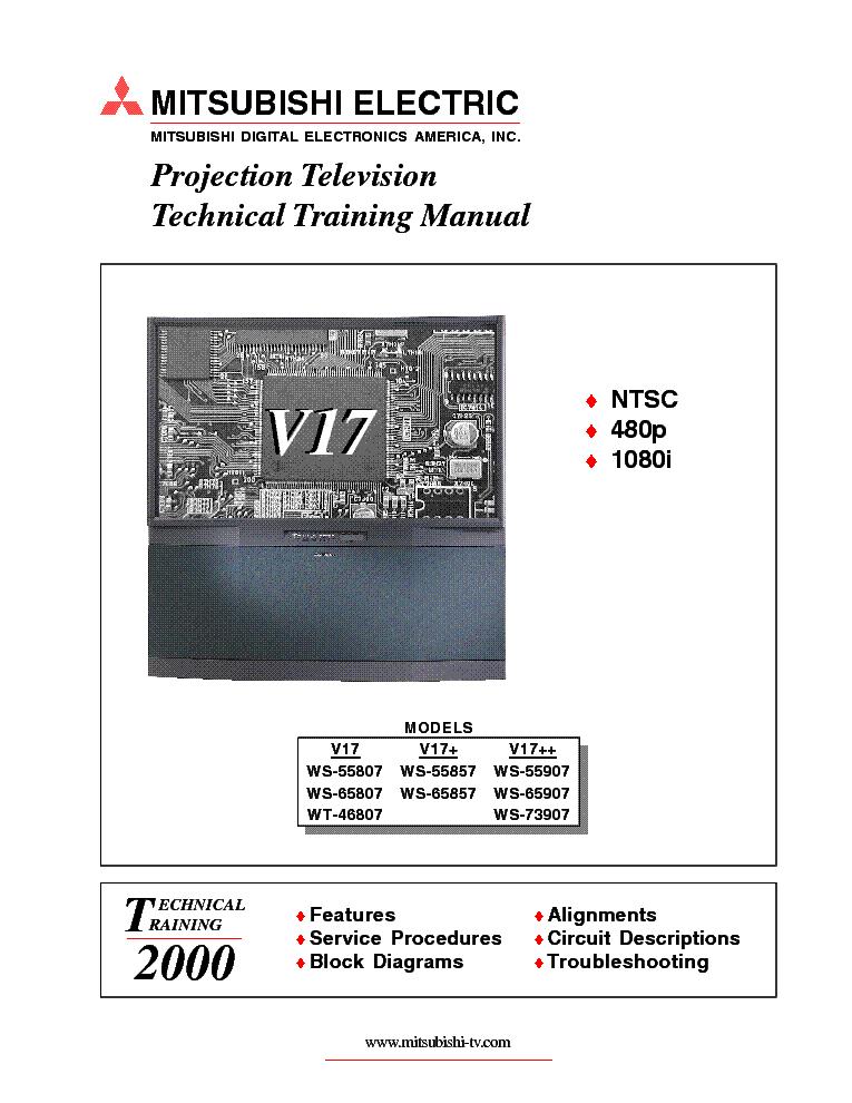 mitsubishi ws 55315 service manual manuell zone rh 2015download com Mitsubishi Model WS 55315 Mitsubishi TV WS-55315