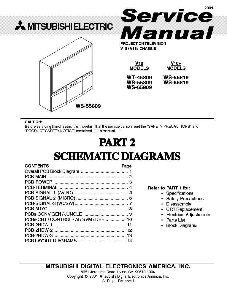 mitsubishi tv wd 60638 manual