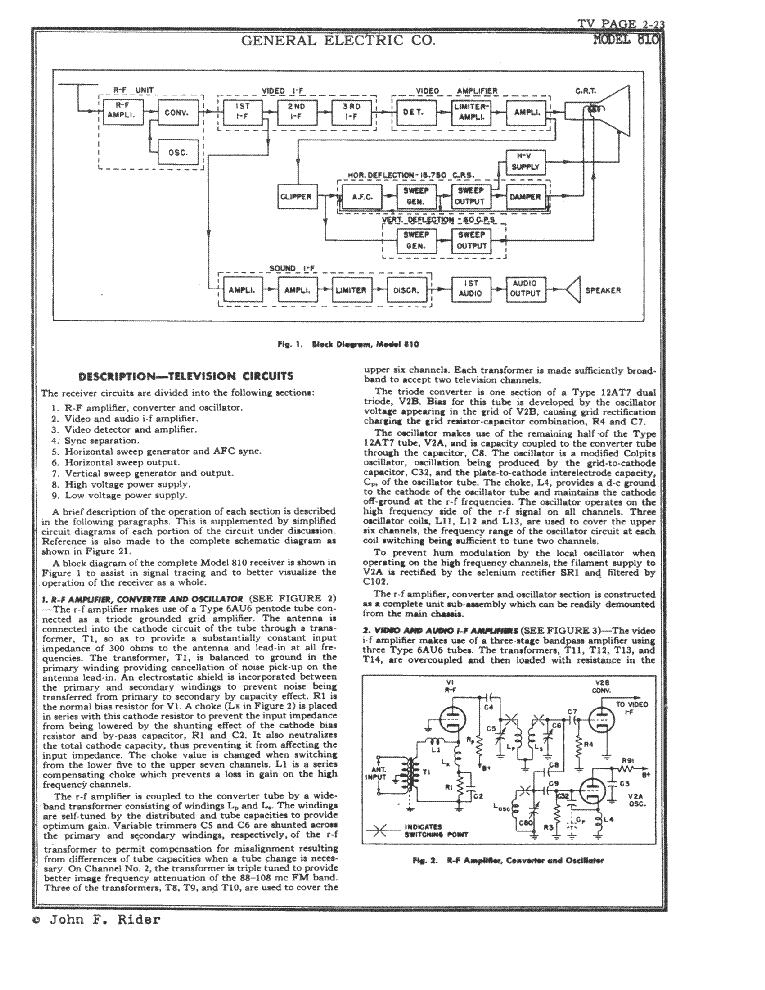 GENERAL ELECTRIC 810 service manual (2nd page)