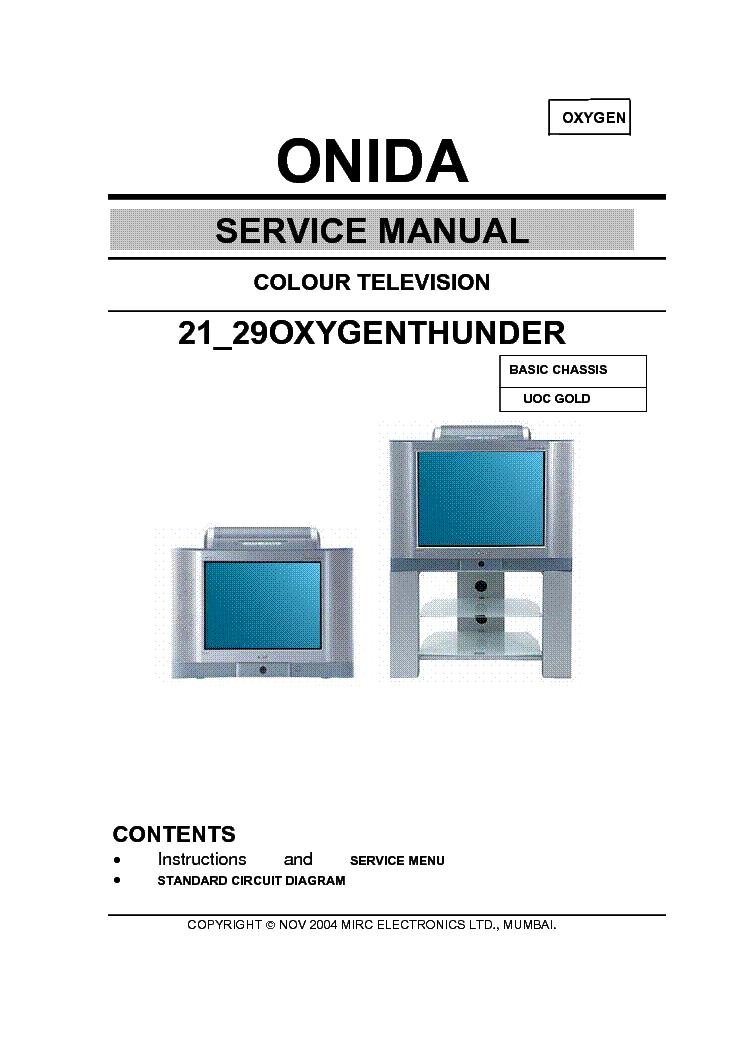 Onida 29 Oxygen Sch Service Manual Download Schematics Eeprom
